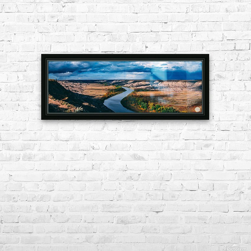 Orkney Fall 2018 Panorama 3x1 HD Sublimation Metal print with Decorating Float Frame (BOX)