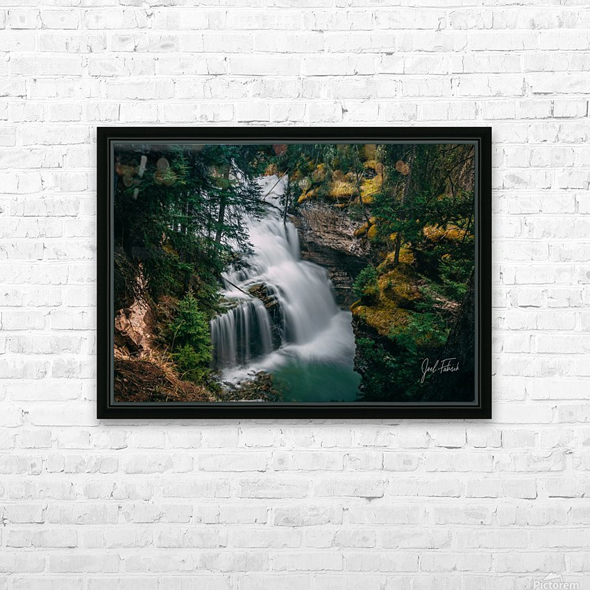 Johnson Canyon Trail Falls Long Exposure HD Sublimation Metal print with Decorating Float Frame (BOX)