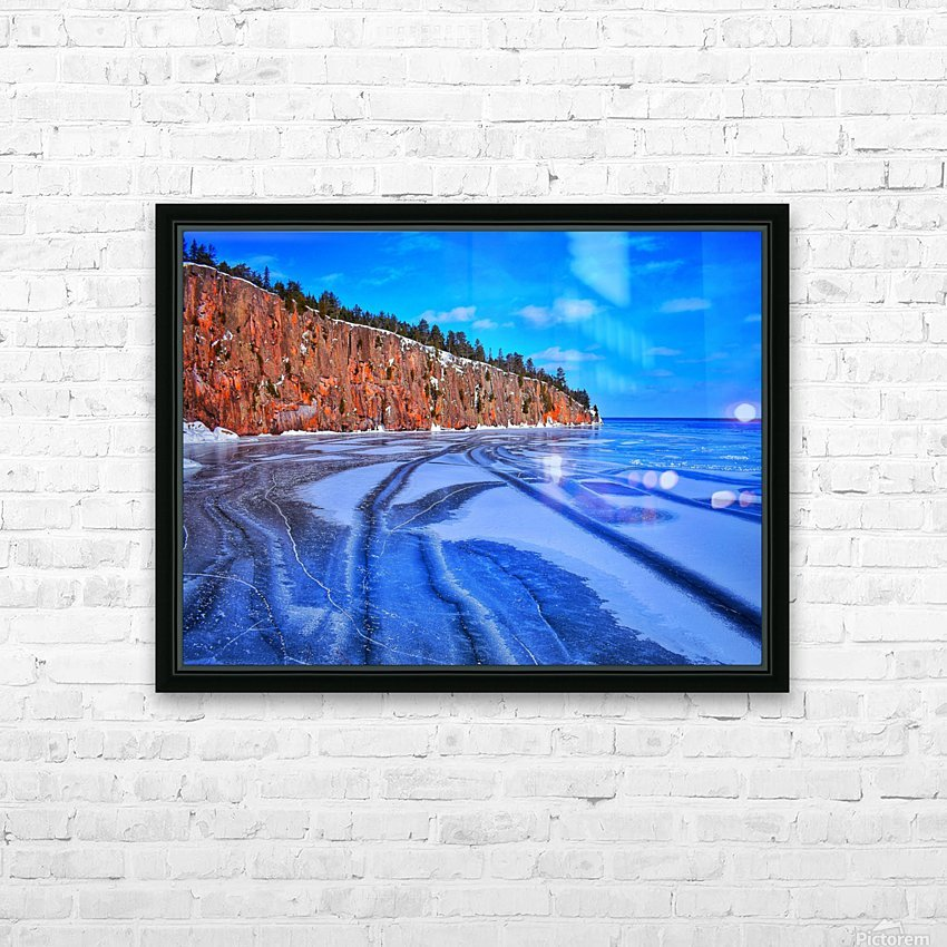 Frozen Shovel Point HD Sublimation Metal print with Decorating Float Frame (BOX)
