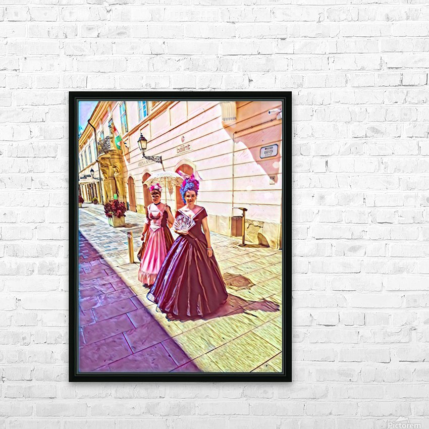 Purple Baroque HD Sublimation Metal print with Decorating Float Frame (BOX)