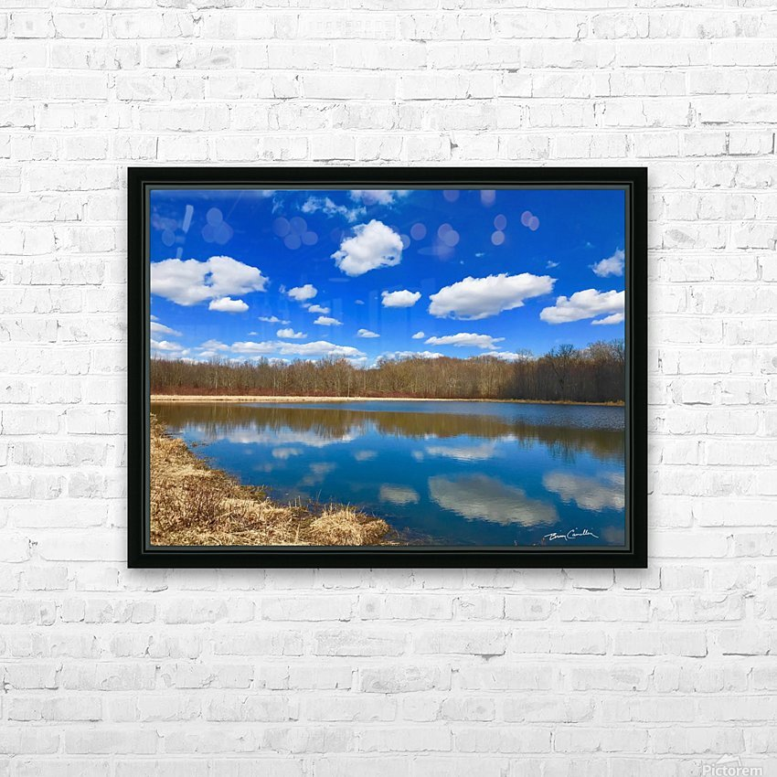 Pond Reflections HD Sublimation Metal print with Decorating Float Frame (BOX)