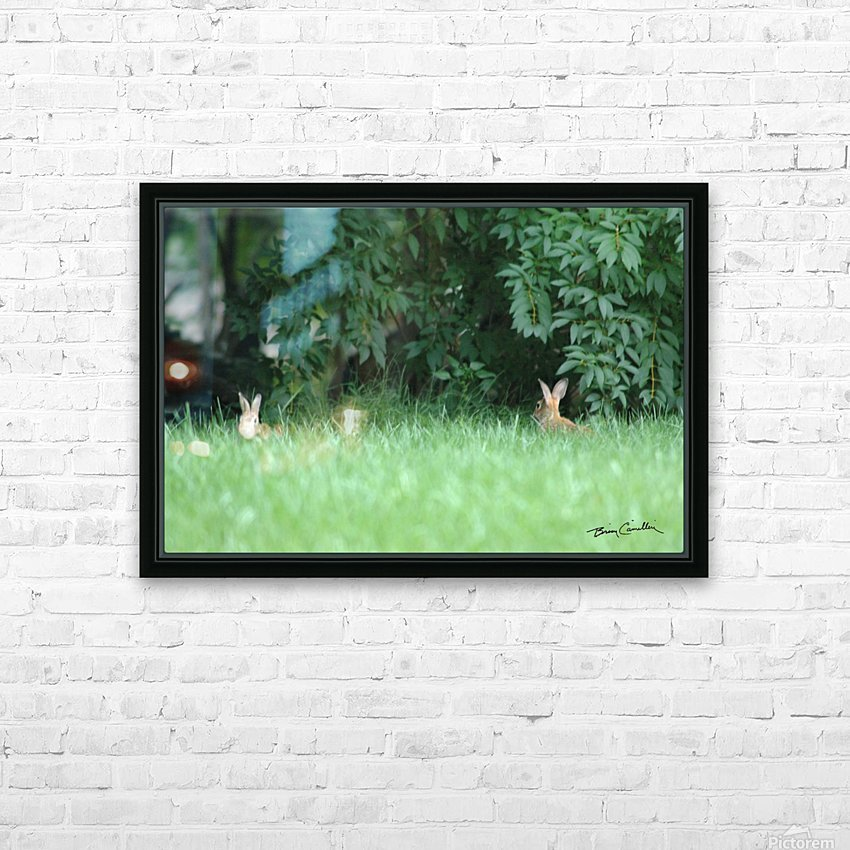 Bunnies Two HD Sublimation Metal print with Decorating Float Frame (BOX)