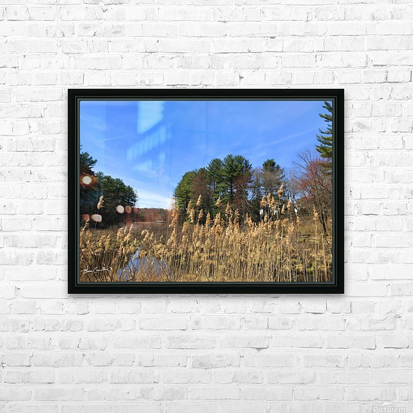 Simsbury Wetland HD Sublimation Metal print with Decorating Float Frame (BOX)