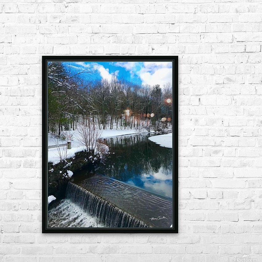 SimsburyFalls HD Sublimation Metal print with Decorating Float Frame (BOX)