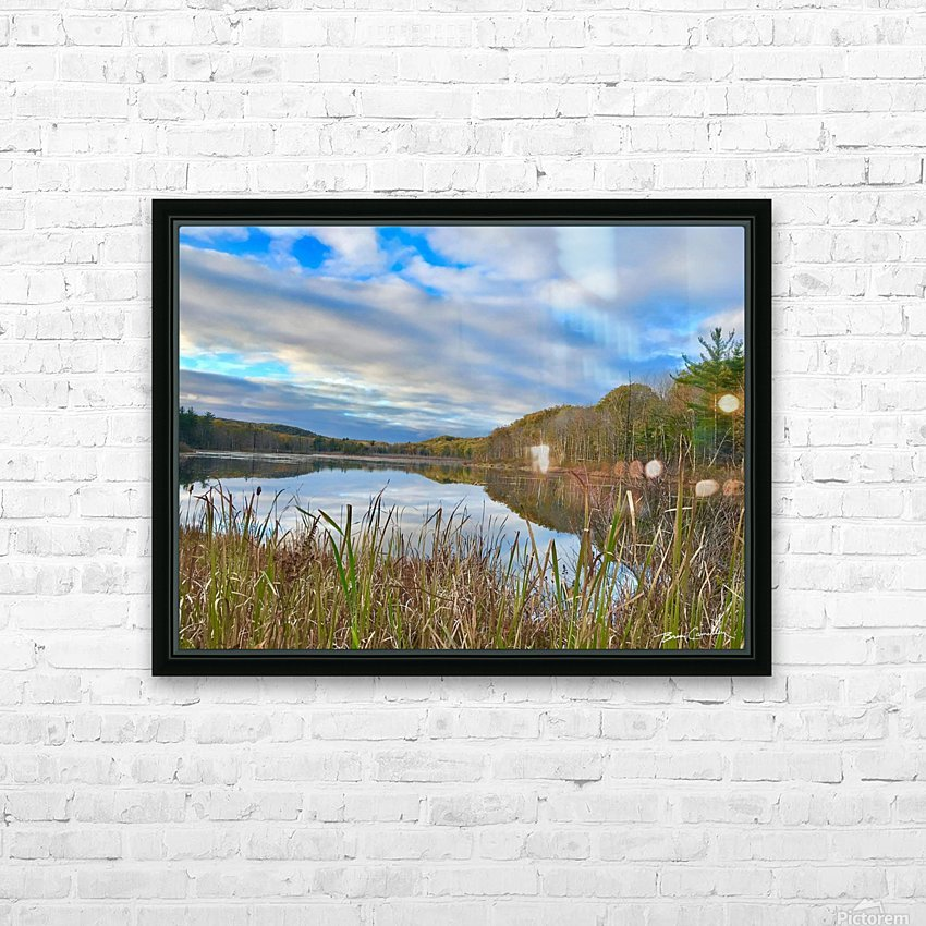 Granville Pond HD Sublimation Metal print with Decorating Float Frame (BOX)