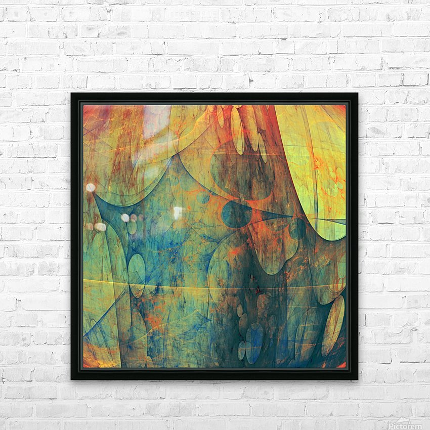 Abstract Composition 139 HD Sublimation Metal print with Decorating Float Frame (BOX)