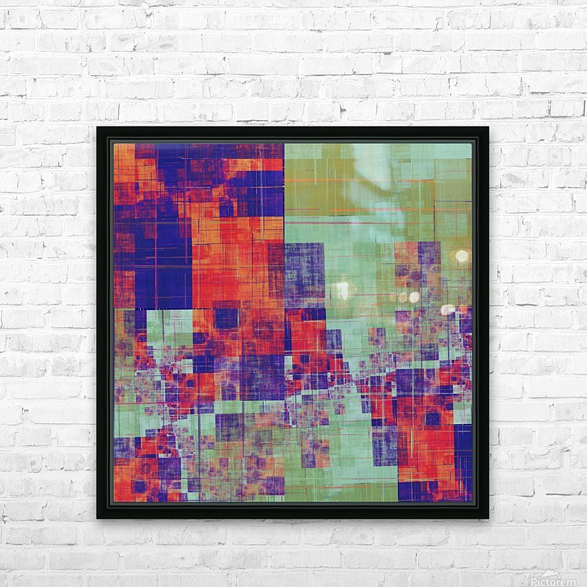 Abstract Composition 217 HD Sublimation Metal print with Decorating Float Frame (BOX)