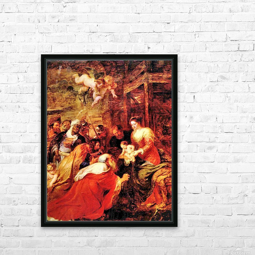 Adoration of the Magi by Rubens HD Sublimation Metal print with Decorating Float Frame (BOX)