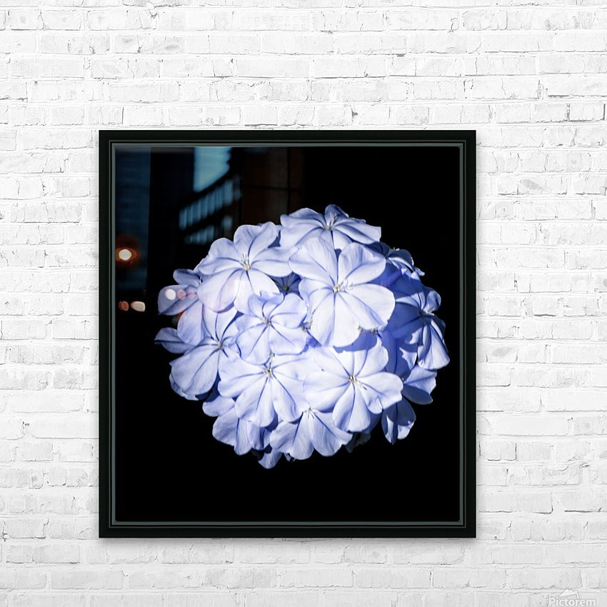 Blue Plumbago HD Sublimation Metal print with Decorating Float Frame (BOX)