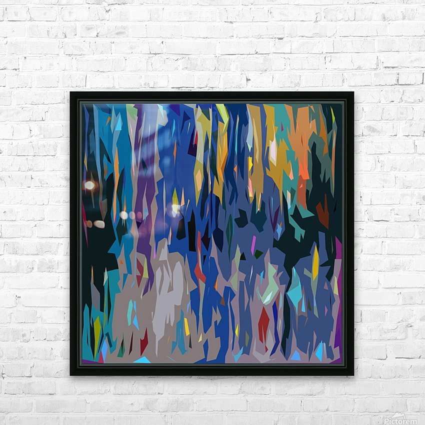 Abstract Composition 726 HD Sublimation Metal print with Decorating Float Frame (BOX)