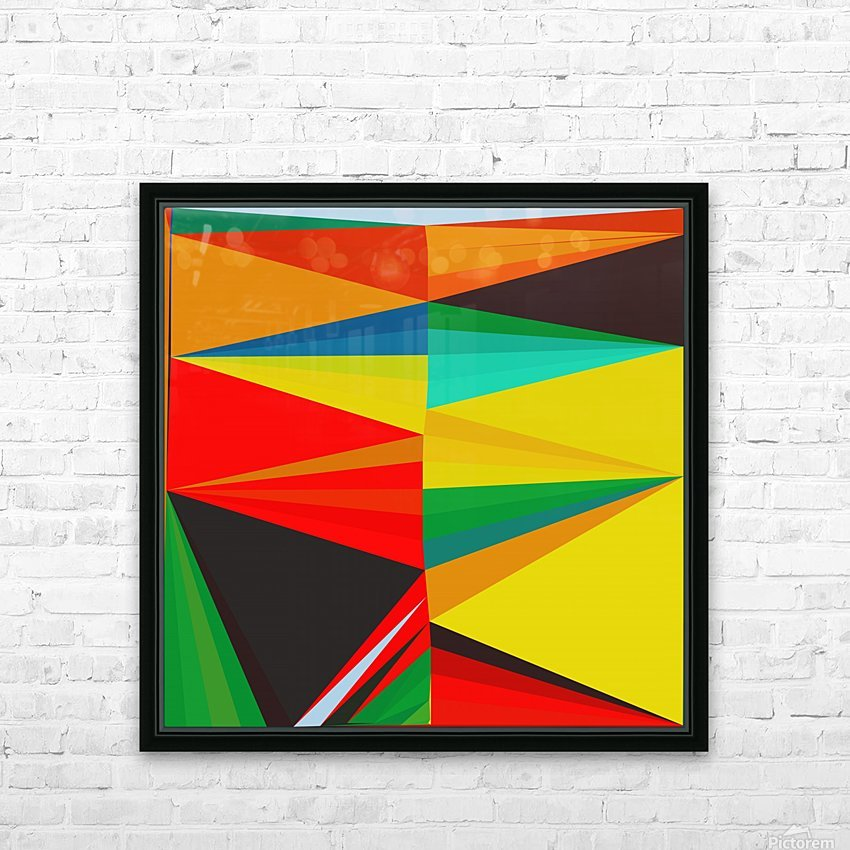 Abstract Composition 652 HD Sublimation Metal print with Decorating Float Frame (BOX)