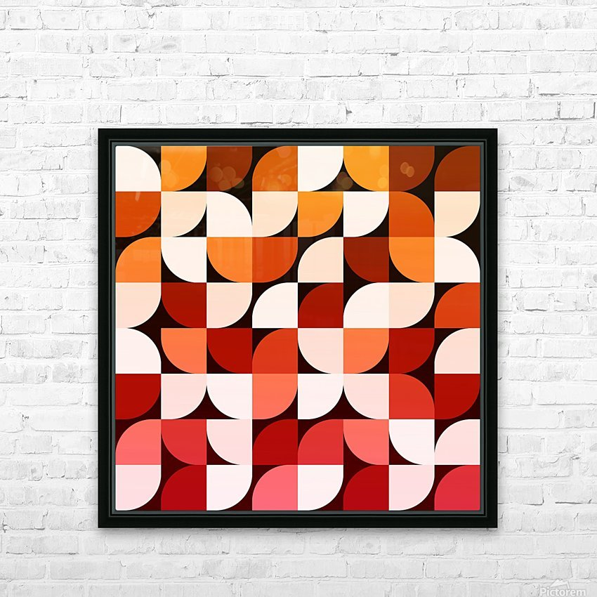 Abstract Composition 642 HD Sublimation Metal print with Decorating Float Frame (BOX)
