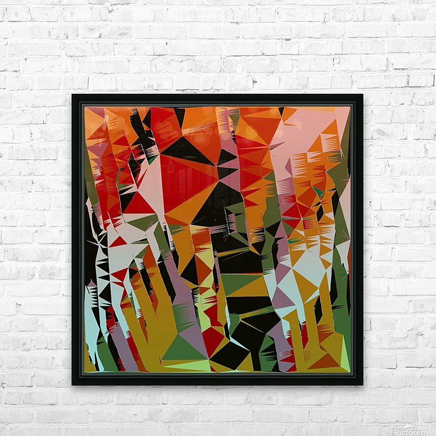 Abstract Composition 636 HD Sublimation Metal print with Decorating Float Frame (BOX)