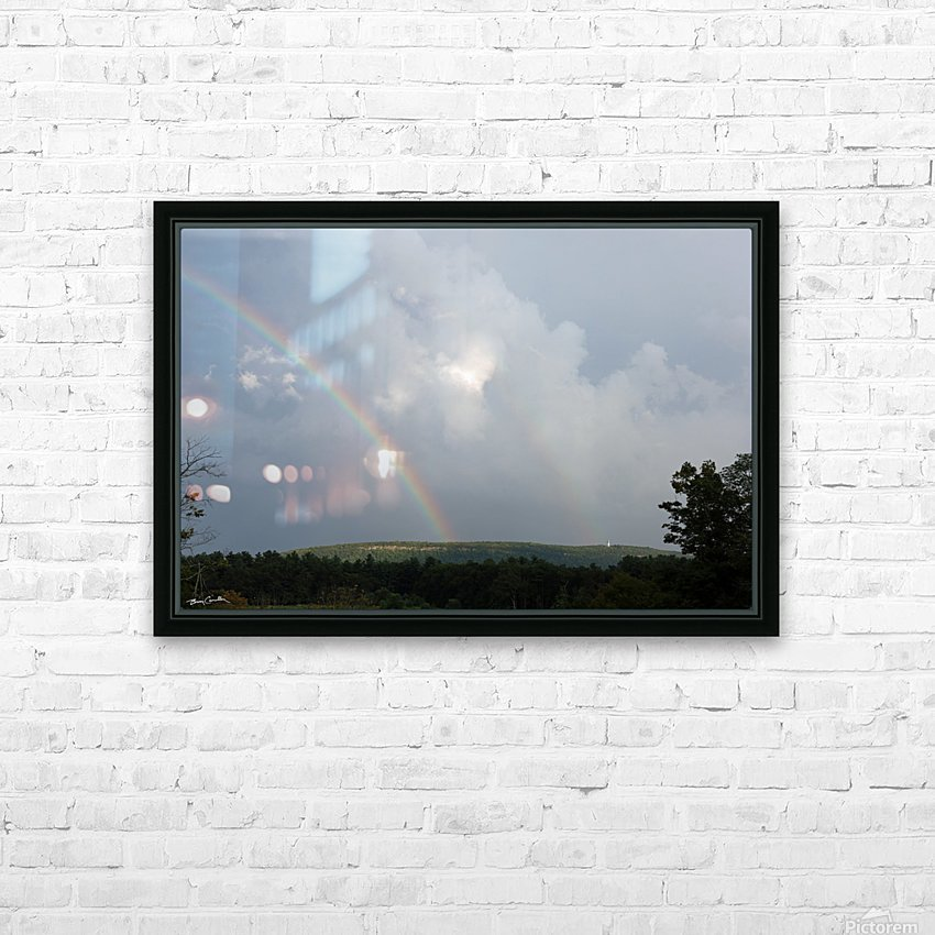 Rainbow Ridge HD Sublimation Metal print with Decorating Float Frame (BOX)
