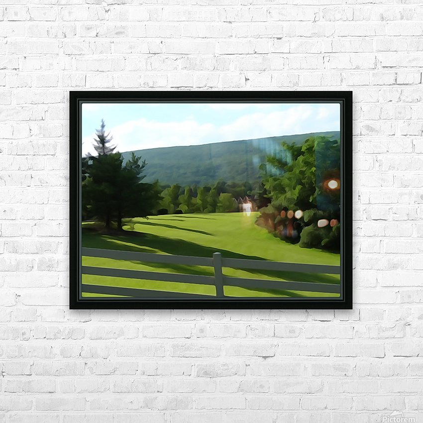 House on the Hill HD Sublimation Metal print with Decorating Float Frame (BOX)