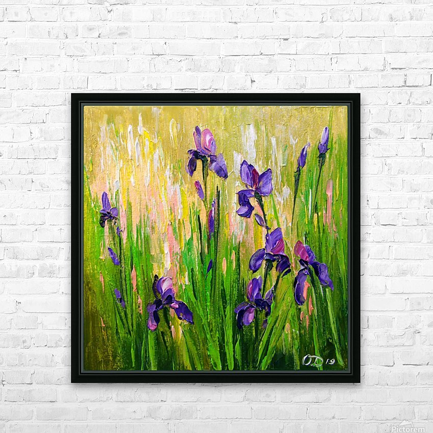 Irises HD Sublimation Metal print with Decorating Float Frame (BOX)