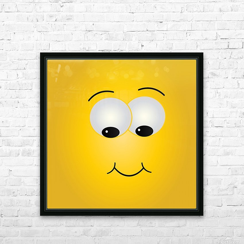 Smiling Puffy  HD Sublimation Metal print with Decorating Float Frame (BOX)