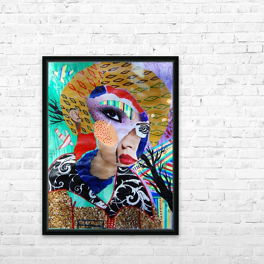 PAINTING103 HD Sublimation Metal print with Decorating Float Frame (BOX)