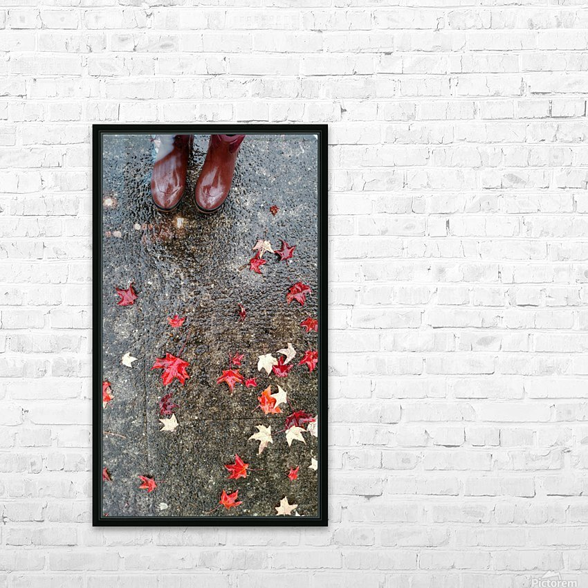 Autumn Rain HD Sublimation Metal print with Decorating Float Frame (BOX)