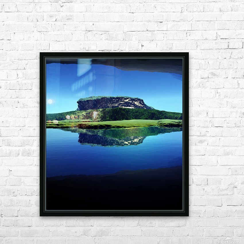 Distant Plateau HD Sublimation Metal print with Decorating Float Frame (BOX)