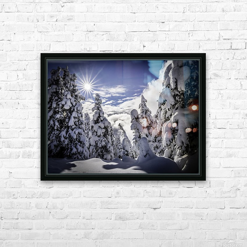 Kootenay Alpine Snow HD Sublimation Metal print with Decorating Float Frame (BOX)