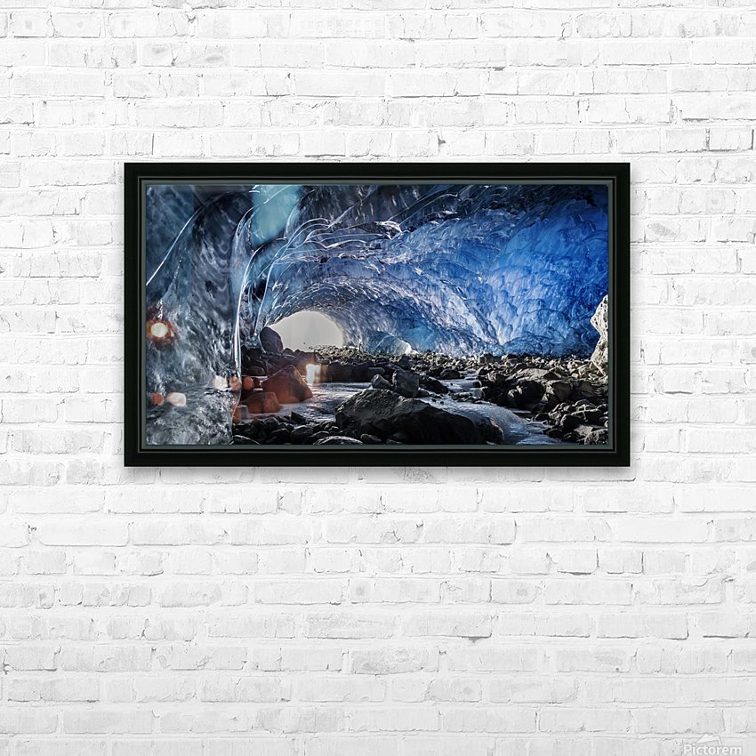 Whistler ice cave HD Sublimation Metal print with Decorating Float Frame (BOX)
