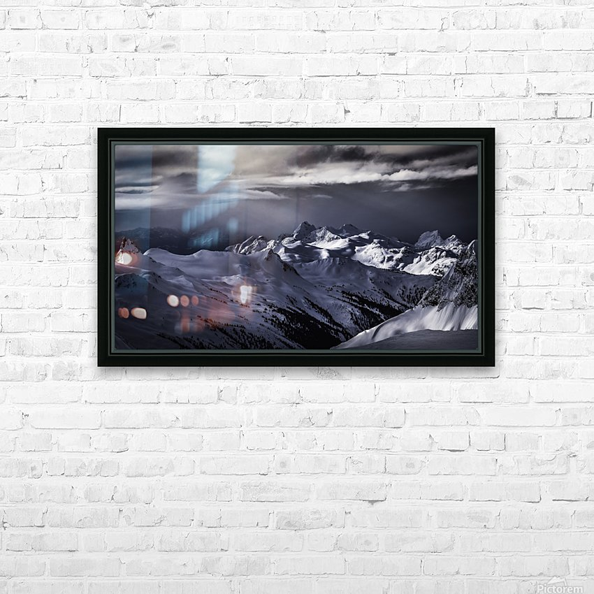 Mountain moods Whistler BC Back-country  HD Sublimation Metal print with Decorating Float Frame (BOX)