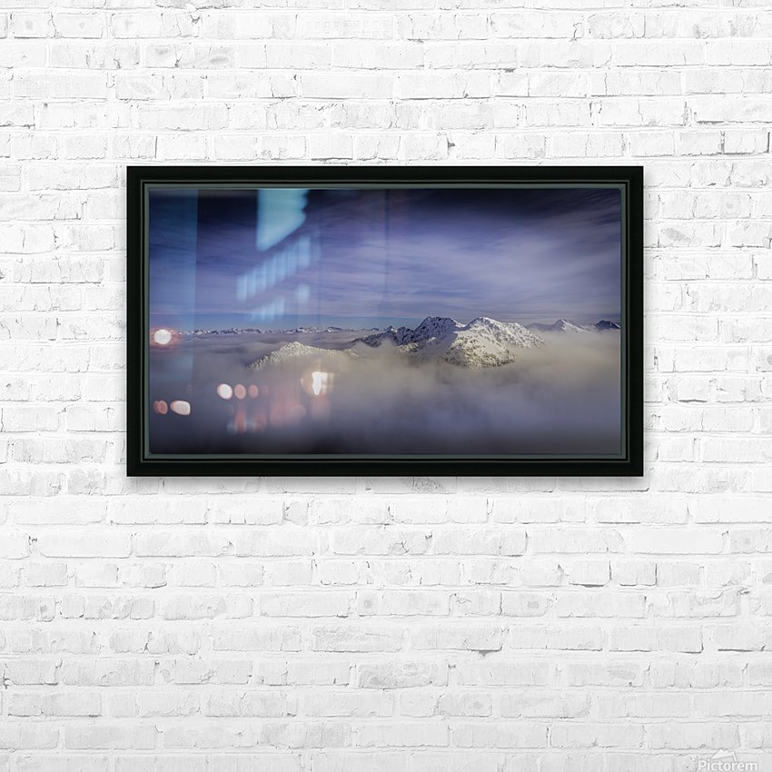 Alpine inversion Kootenay Back country  HD Sublimation Metal print with Decorating Float Frame (BOX)