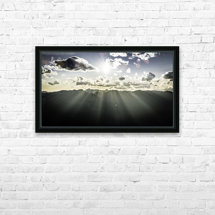 Selkirk Mountain ridge Line Kaslo BC HD Sublimation Metal print with Decorating Float Frame (BOX)