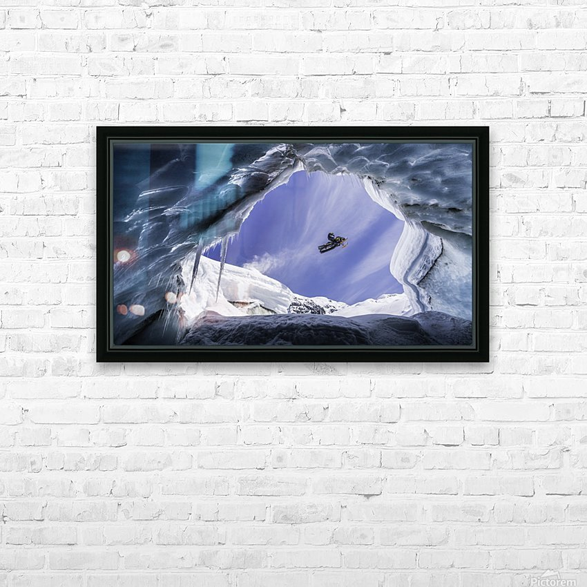 Crevasse Jump HD Sublimation Metal print with Decorating Float Frame (BOX)