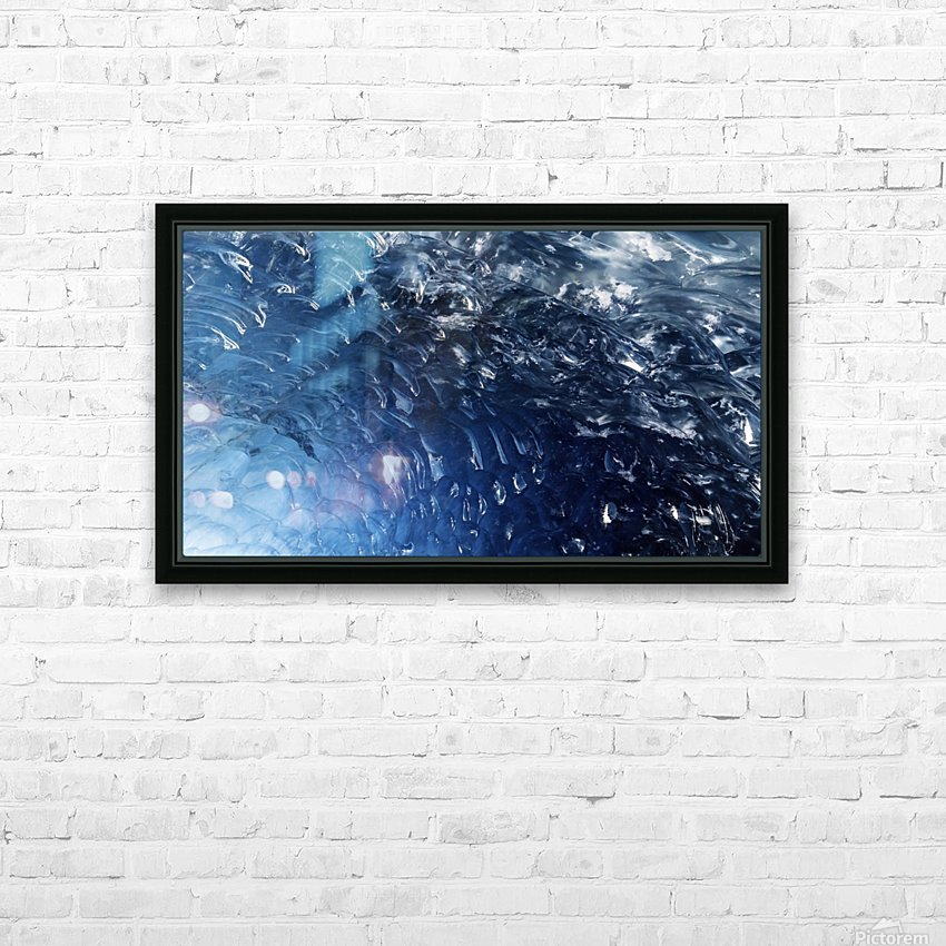 Glacier ICE formation  HD Sublimation Metal print with Decorating Float Frame (BOX)