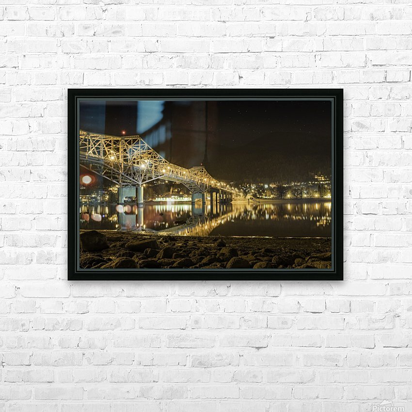 Cold refection under the B.O.B Nelson BC HD Sublimation Metal print with Decorating Float Frame (BOX)