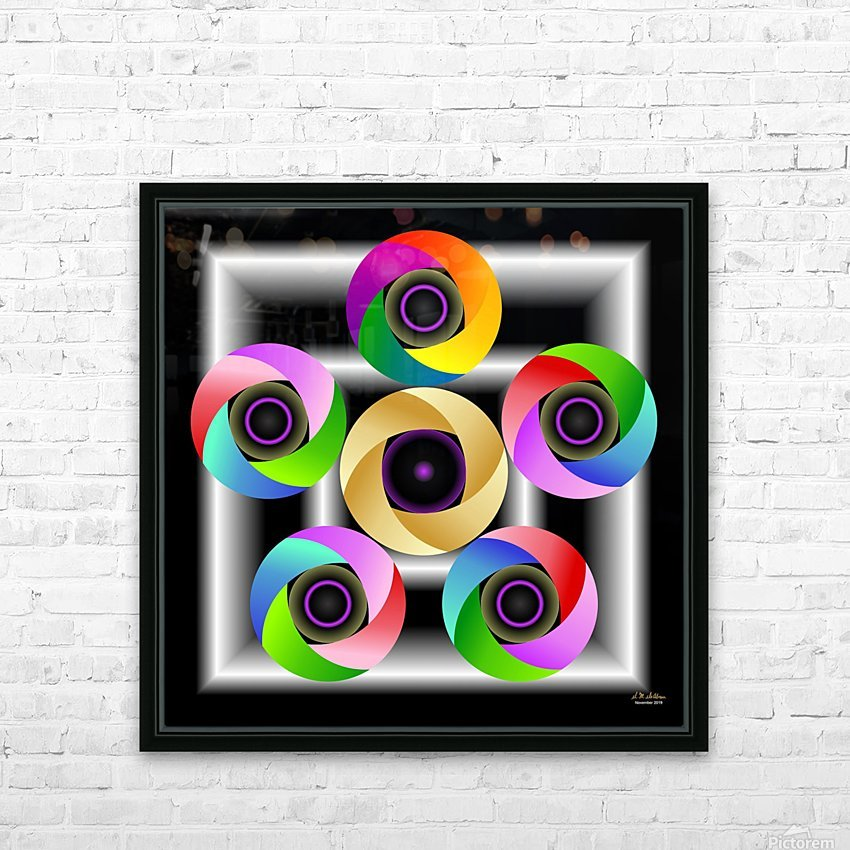 1-Ring Around the Rosie HD Sublimation Metal print with Decorating Float Frame (BOX)