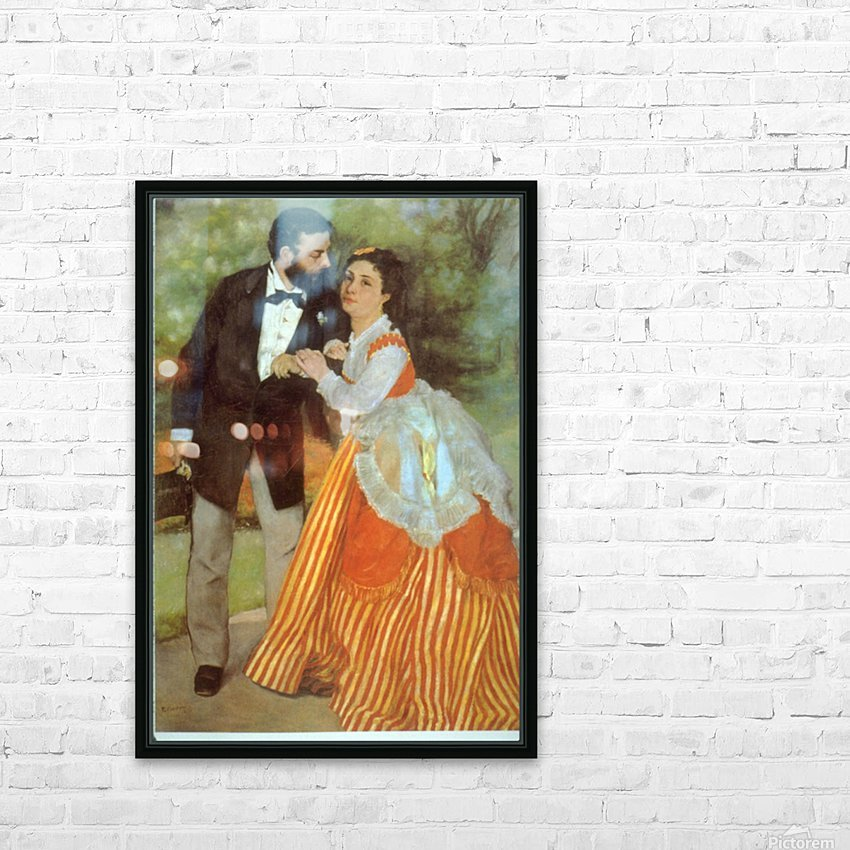 Alfred Sisley by Renoir HD Sublimation Metal print with Decorating Float Frame (BOX)