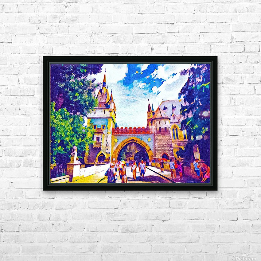 Vajdahunyad Castle HD Sublimation Metal print with Decorating Float Frame (BOX)