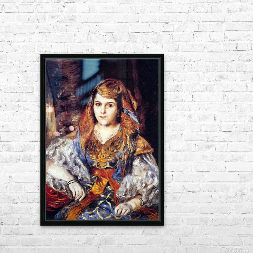 Algerian Woman by Renoir HD Sublimation Metal print with Decorating Float Frame (BOX)