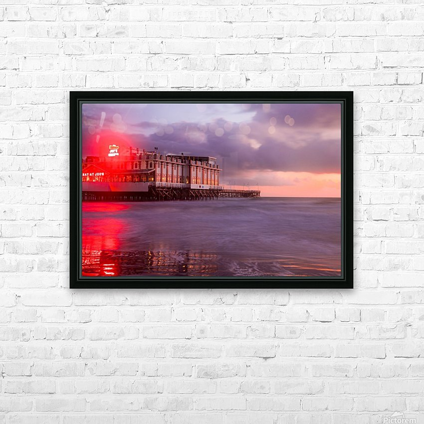 Red Dawn HD Sublimation Metal print with Decorating Float Frame (BOX)