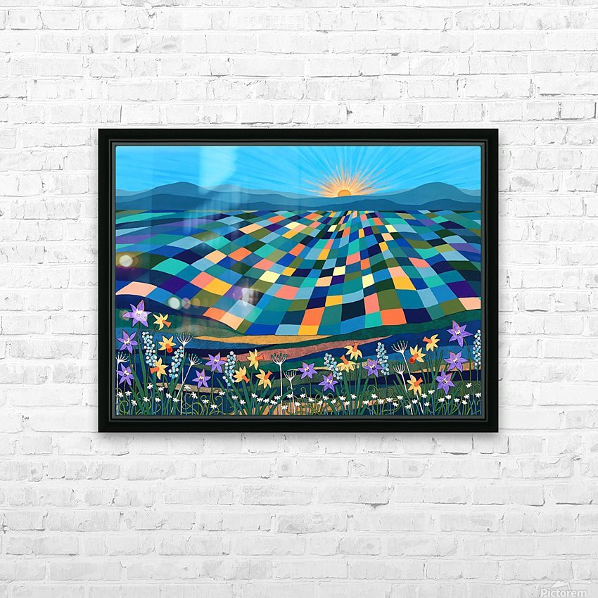 Bright Sun Shiny Day  HD Sublimation Metal print with Decorating Float Frame (BOX)