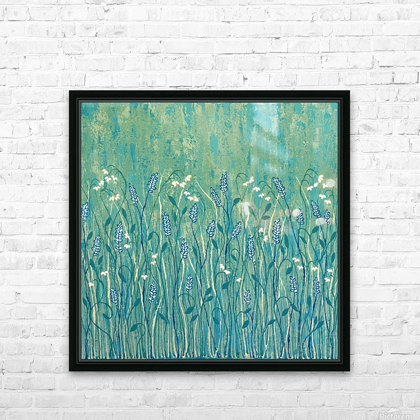 Abundant Wild Flowers HD Sublimation Metal print with Decorating Float Frame (BOX)