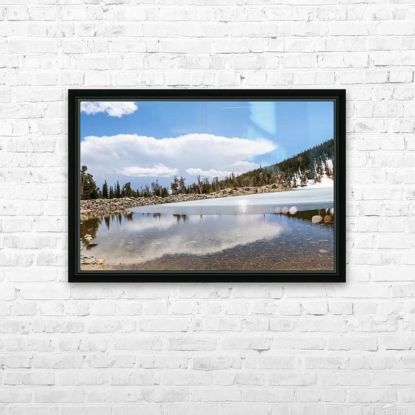 Colorado Glacier HD Sublimation Metal print with Decorating Float Frame (BOX)