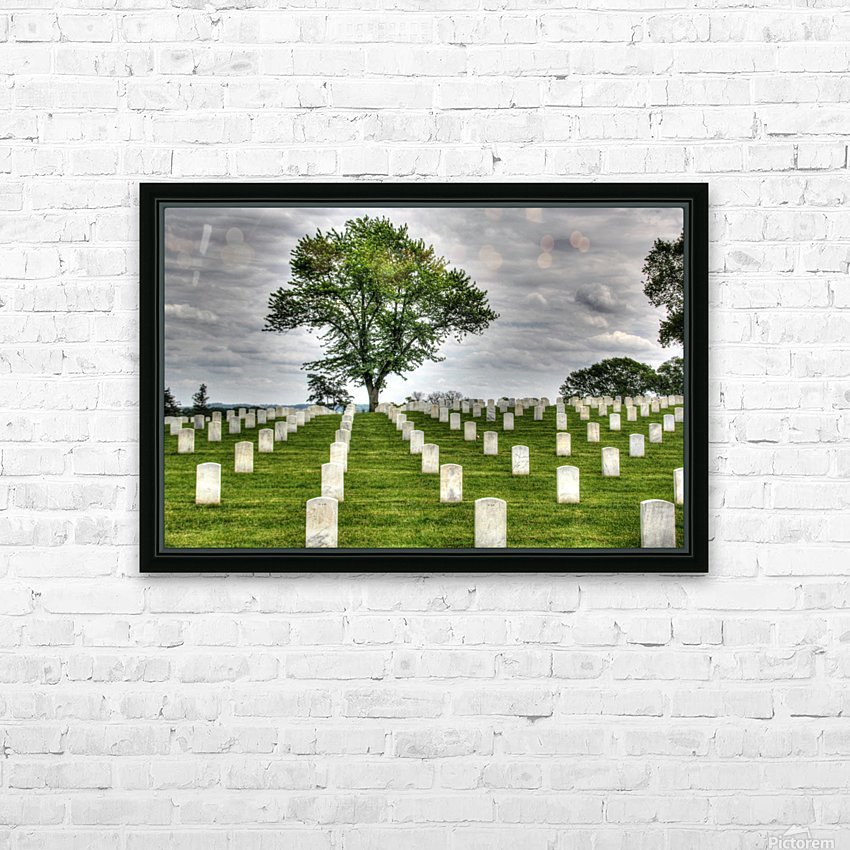 Cemetery Memorial Flags HD Sublimation Metal print with Decorating Float Frame (BOX)