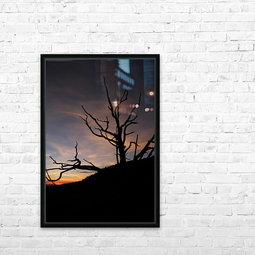 New Mexico Sunrise HD Sublimation Metal print with Decorating Float Frame (BOX)