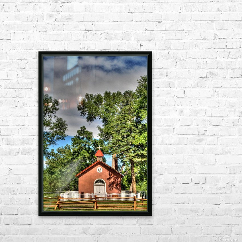 New Mexico Church HD Sublimation Metal print with Decorating Float Frame (BOX)