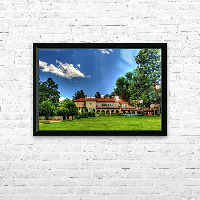 Villa Philmonte HD Sublimation Metal print with Decorating Float Frame (BOX)