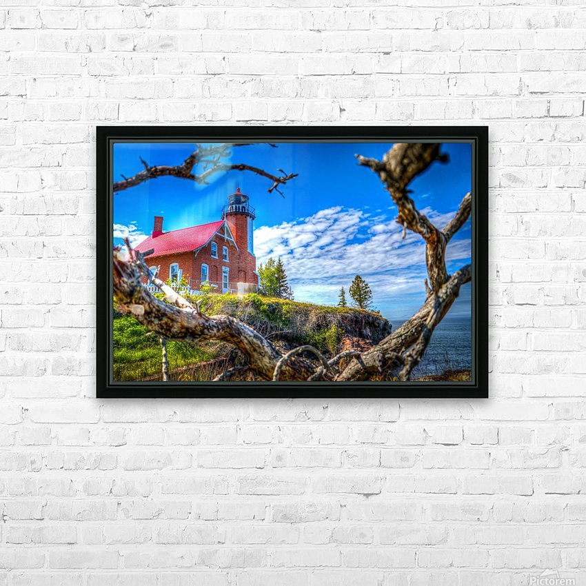 Lake Superior Lighthouse HD Sublimation Metal print with Decorating Float Frame (BOX)