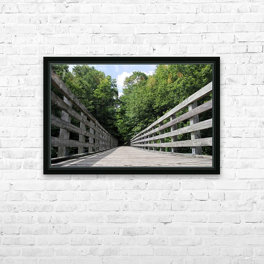 Rail to Trail HD Sublimation Metal print with Decorating Float Frame (BOX)