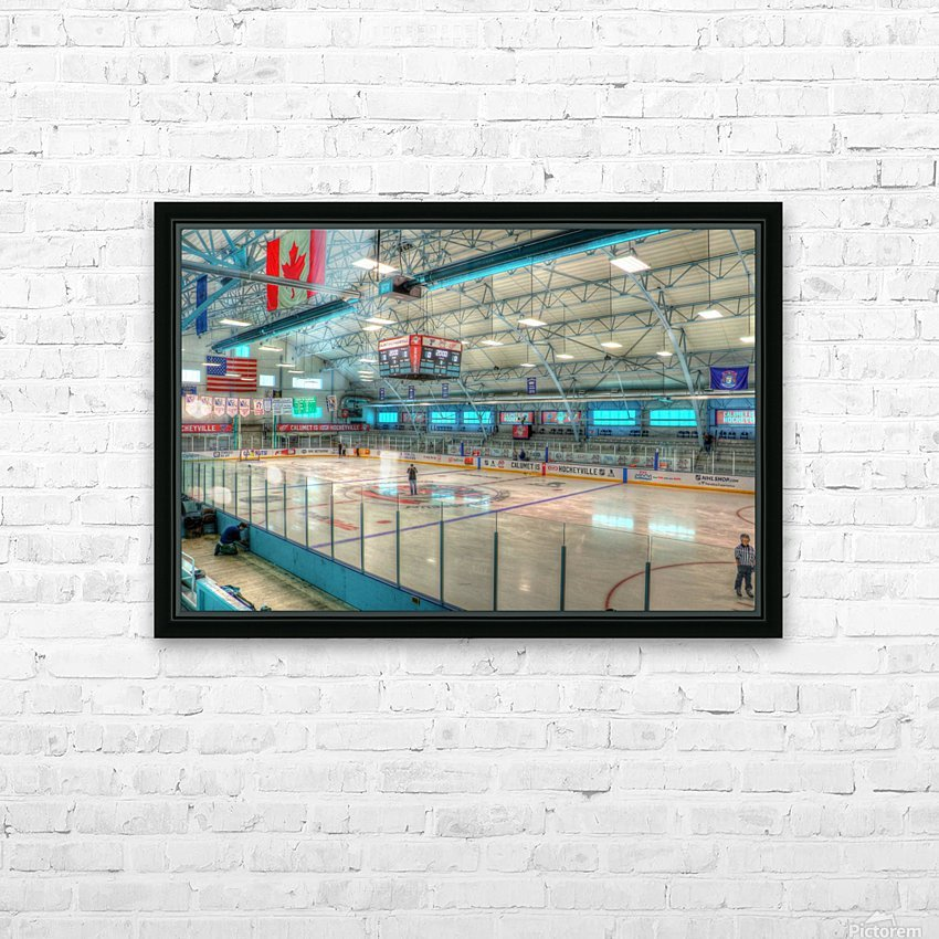 Calumet Hockeyville HD Sublimation Metal print with Decorating Float Frame (BOX)