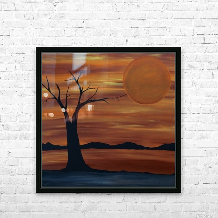 Ares tree acrylic painting HD Sublimation Metal print with Decorating Float Frame (BOX)