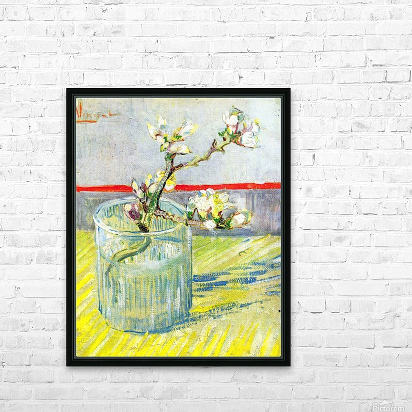 Almond Blossom branch by Van Gogh HD Sublimation Metal print with Decorating Float Frame (BOX)