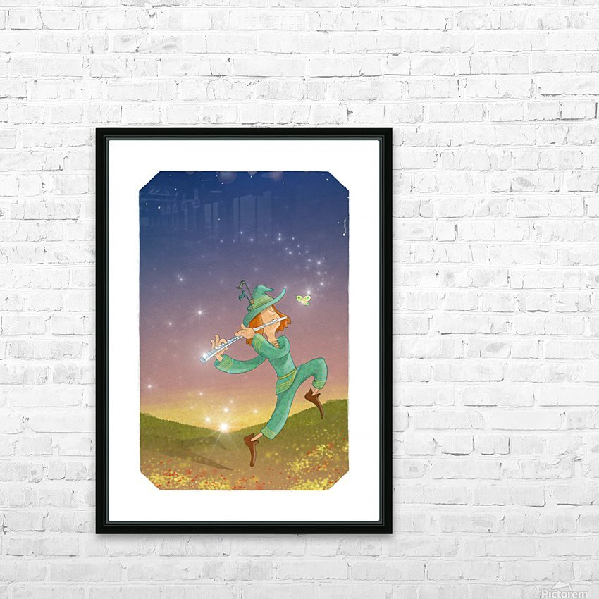 The Dazzling Flutist HD Sublimation Metal print with Decorating Float Frame (BOX)